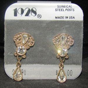 1928 Victorian replica pierced earrings NWT